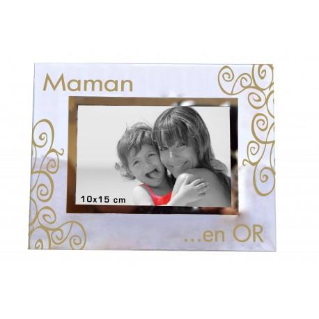 """Cadre photo """"Ma Super Maman en Or"""""""