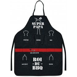 Tablier Super PAPA roi du BBQ