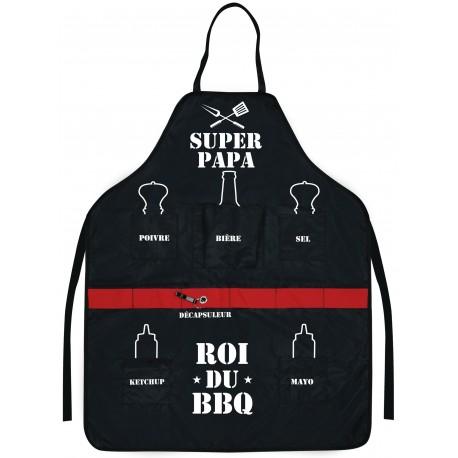 Tablier Super PAPA roi du BBQ