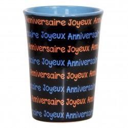 Mug / Tasse en céramique ANNIVERSAIRE Fond noir