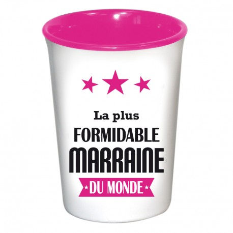 Mug / Tasse en céramique LA PLUS FORMIDABLE MARRAINE