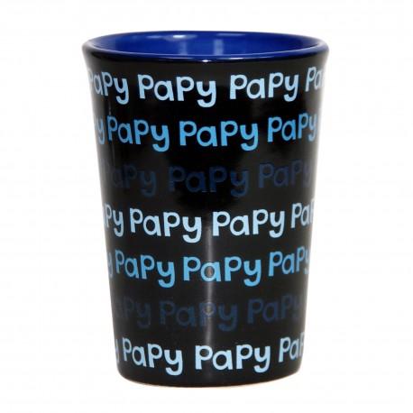 Mug / Tasse en céramique PAPY Fond noir