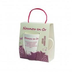 Mug sentiment Nounou en or