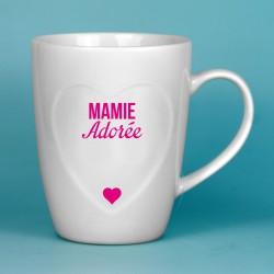 Mug coeur Mamie Adorée
