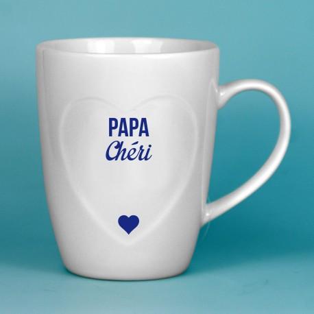 Mug coeur Papa Chéri