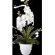 Lampe LED orchidée blanche dans pot rond