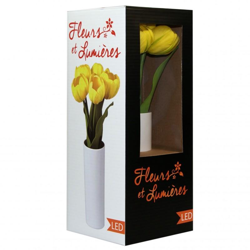 Led Lampe Vase Jaune Dans Tulipe 9Y2DeHIWE