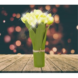 Lampe LED Bouquet de tulipes jaunes