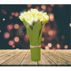 Lampe LED Bouquet de tulipes jaunes