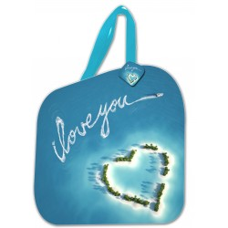"Lot de 2 Pochettes sacs ""I LOVE YOU"""