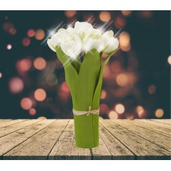 Lampe LED Bouquet de tulipes blanches