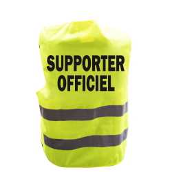 Gilet de signalisation humoristique Supporter Officiel