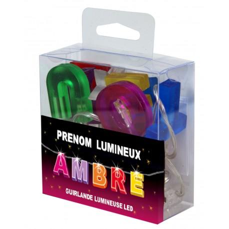 Guirlande Prénom Led - veilleuse AMBRE