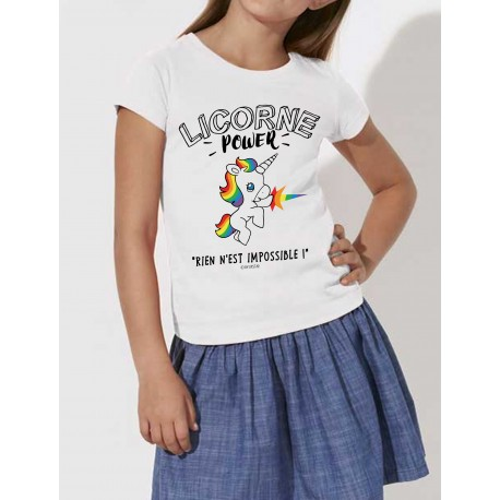 T-Shirt enfants LICORNE POWER