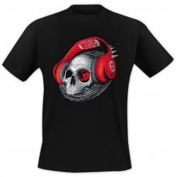 T-Shirt Casque rouge - Noir