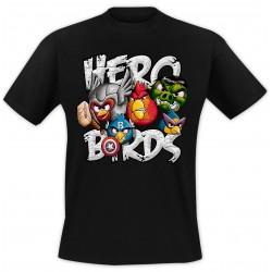T-Shirt Oiseaux - Noir