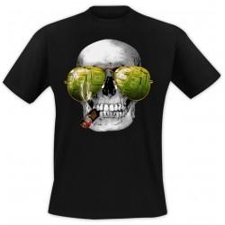 T-Shirt lunettes + cigare Noir
