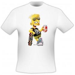 T-Shirt Skateboard - Blanc