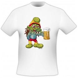 T-Shirt Chope bière - Blanc