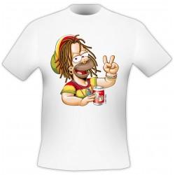 T-Shirt Rasta - Blanc