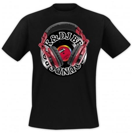 T-Shirt Casque Rock - Noir