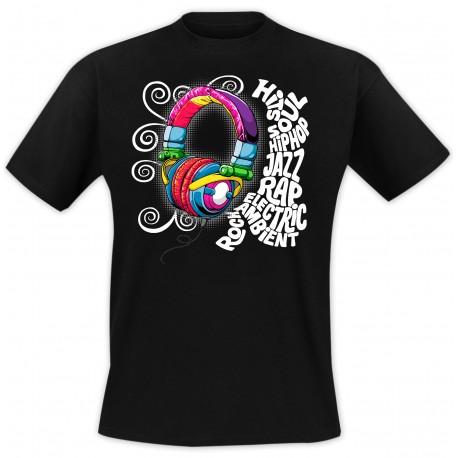 T-Shirt Casque hip-hop - Noir