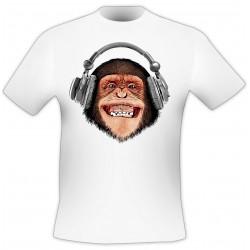 T-Shirt Casque singe - Blanc