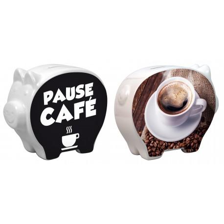 Tirelire Cochon Pause café