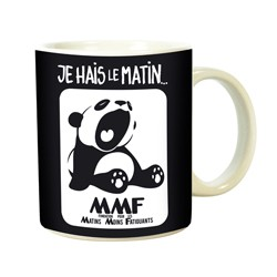 MUG PANDA FATIGUE LE MATIN
