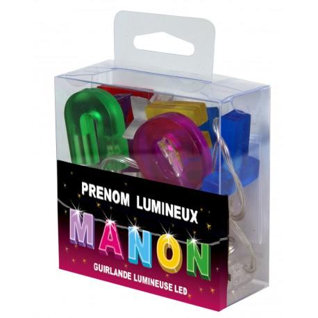 Guirlande Prénom Led - veilleuse MANON