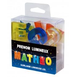 Guirlande Prénom Led - veilleuse MATHEO